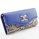Women's Fashion Novelty Snake Skin Pattern Wallet