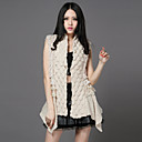 Fashion Collarless Sweater/Rabbit Fur Casual/Party Vest(More Colors)