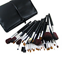 34Pcs Professional Cosmetic Brush With Free Leather Case