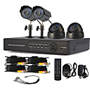 4 Channel One-Touch Online CCTV DVR System (4-Kanal D1 Recording)