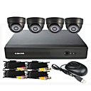 4 canales CCTV DVR System (UPNP, 4 cmaras de interior)