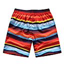 Men's Beach Casual Rainbow Stripes Trunks