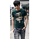 Men 's Youth Fashion Men Round Collar Short Sleeve Cultivate One's Morality T-shirt