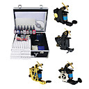4 Guns Tattoo Kit with Mini Power and 7Pcs Ink + Case