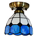 40W Künstlerische Unterputz-Licht mit Tiffany Glass Shade in Aegean Sea Blue Design