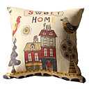 Sweet Home Print Decorative Pillow Cover
