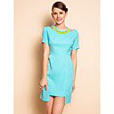 TS Cutout Shoulder Irregular Hem Dress