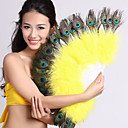 Performance Dancewear Feather Belly Dance Fan For Ladies More Colors