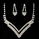 diamantes de imitacin digna de collar y aretes