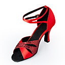 Customized Women's Satin Upper Latin / Ballroom Dance Shoes