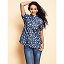 TS Flora Print Pockets Denim Blouse