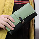Sweet Contrast Color Buttons Long Wallet