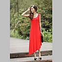 Women's Asymmetrical Hem Maxi Dress