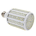 E27 19W 330-LED 1000-1100LM 8000-8500K Cold White Light LED Corn Bulb (85-265V)