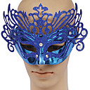 Blue PVC Party Queen Masquerade Mask