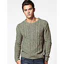 L'CART Gray Stereoscopic Jacquard Knit Sweater