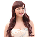 Capless Mixed Hair Red Long Wavy Hair Wigs