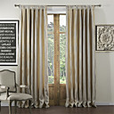 (Two Panels) Contemporary Jacquard Streak Energy Saving Curtains