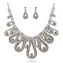 Gorgeous Alloy And Rhinestones Wedding Bridal Jewelry Set Including Necklace And Earrings