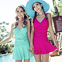 Women's Fashion Solid Color Swim Dress