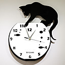 Naughty Cat Acrylic Wall Clock with DIY Dial and Hands Feature