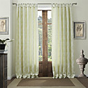 (Two Panels) Country Jacquard Floral Energy Saving Curtains