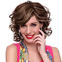 Capless High Quality Synthetic Short Wavy White&amp;Grey Hair Wigs