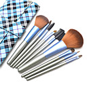 9Pcs High Quality Makeup Brush Set with Free Fashion Blue Case