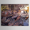 Famous Oil Painting Bathers at La Grenouillere by Claude Monet