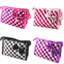 Briefcase Pattern Make up/Cosmetics Bag with Mirror Lattice Bowknot(Assorted Colors)