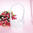 Graceful Flower Basket With Satin Flower