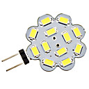 G4 3W 12x5730SMD 240-270LM 6000-6500K bianco naturale LED Light Bulb Spot (DC 12V)