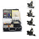 4 Cast Iron Tattoo Gun Kit for Lining and Shading (40 8ml Colors Included)