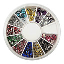240PCS Nail Art Colorful Mixed Rivet Shapes Acrylic Rhinestone