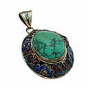 hoogwaardige antient turquoise 925.sterling zilveren hanger (rp003)
