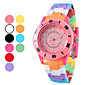 Unisex plstico cuarzo reloj de pulsera analgico (varios colores)